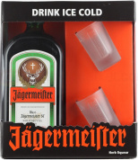 Jagermeister gift box with 2 glasses